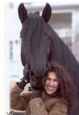 Pediatric dentist Dr. Corine Barone with her horse
