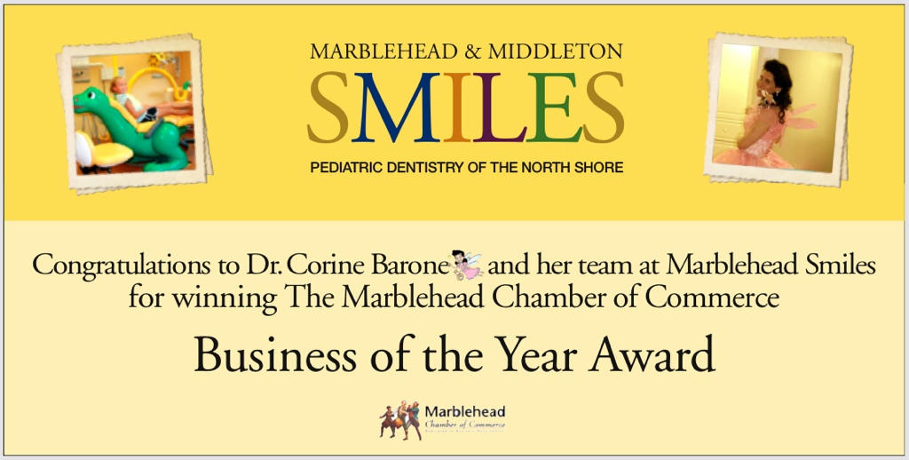 Business of the Year Award from the Marblehead Chamber of Commerce