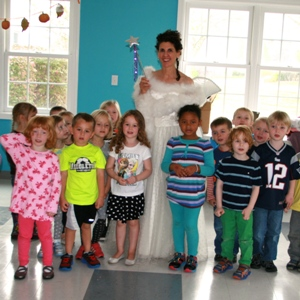 Tooth Fairy with the class at Little Sprouts Pre-School