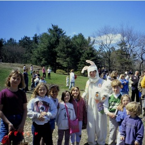 Pediatric dentist Dr. Barone at Easter Egg Hunt